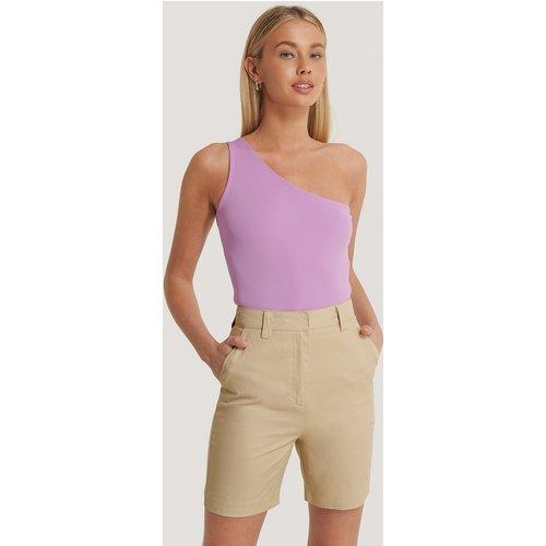 Shorts Taille Haute - Beige - Basma & Merna x NA-KD - Modalova