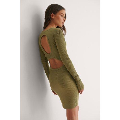 Robe Mini À Dos Ouvert - Green - Bella Michlo x NA-KD - Modalova