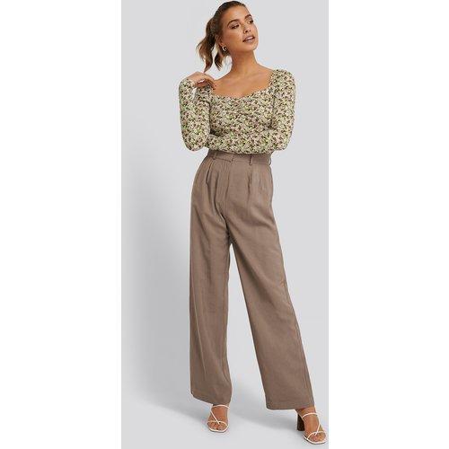 Pantalon De Costume - Brown - Buonalima x NA-KD - Modalova