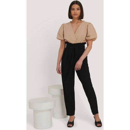 Pantalon À Nouer À La Taille - Black - Taraneh x NA-KD - Modalova