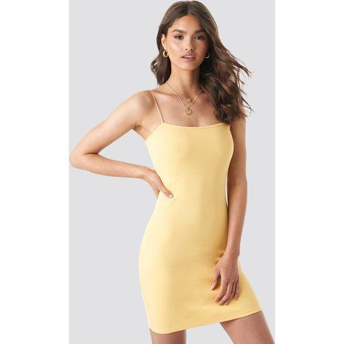 Basic Bodycon Dress - Yellow - Camille Botten x NA-KD - Modalova