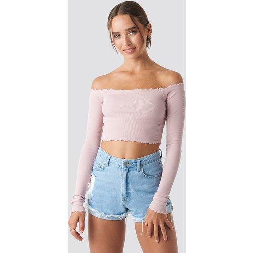 Long Sleeve Crop Top - Pink - Céline & Talisa x NA-KD - Modalova