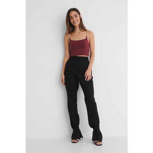 Pantalon De Costume - Black - Danaë x NA-KD - Modalova