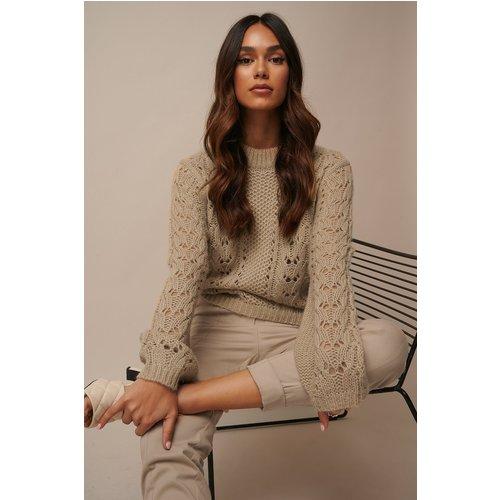 Pattern Knitted Sweater - Beige - Donnaromina x NA-KD - Modalova