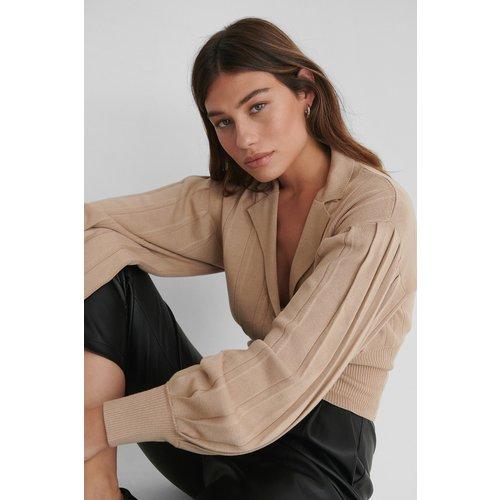 Cardigan Court Surdimensionné - Beige - The Fashion Fraction x NA-KD - Modalova