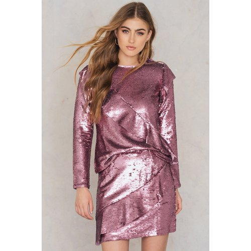 Glamorous Frill Sequin Skirt - Pink - Glamorous - Modalova
