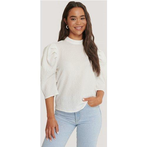 Textured Puff Sleeve Top - White - Glamorous - Modalova