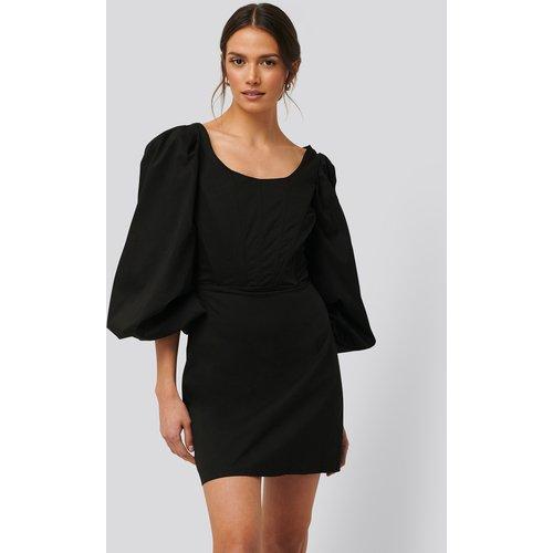 Robe Mini À Manches Longues Et Détail Corset - Black - Glamorous - Modalova
