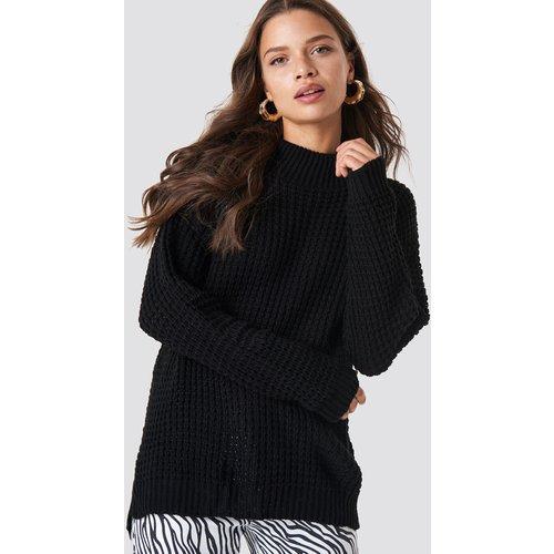 Overlap Back Slit Knitted Jumper - Black - Glamorous - Modalova