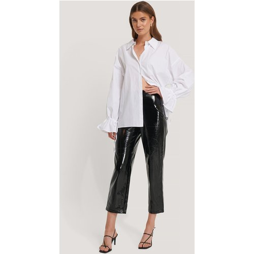 High Waisted Patent Pants - Black - Hannalicious x NA-KD - Modalova