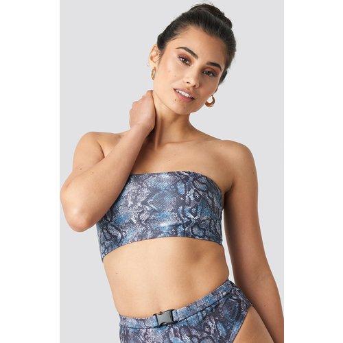 Wide Bandeau Bikini Top - Blue - Hannalicious x NA-KD - Modalova