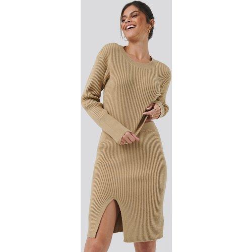 Drop Shoulder Knit - Beige - Hannalicious x NA-KD - Modalova