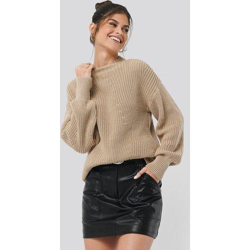Oversized Knit - Beige - Hannalicious x NA-KD - Modalova