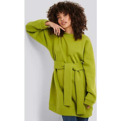 Oversized Waist Belt Sweater - Green - Hanna-Martine x NA-KD - Modalova