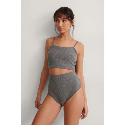 Bas De Pyjama Taille Haute - Grey - NA-KD Lingerie - Modalova