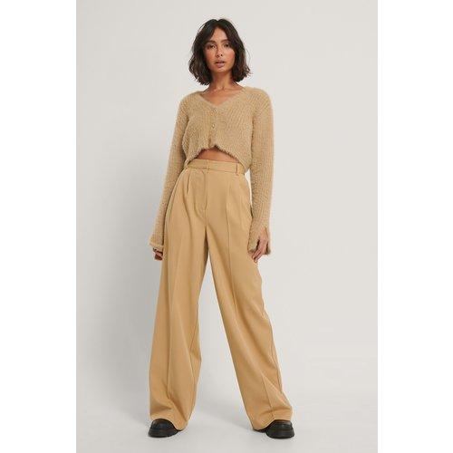 Pantalon Gabardine - Beige - Hoss x NA-KD - Modalova