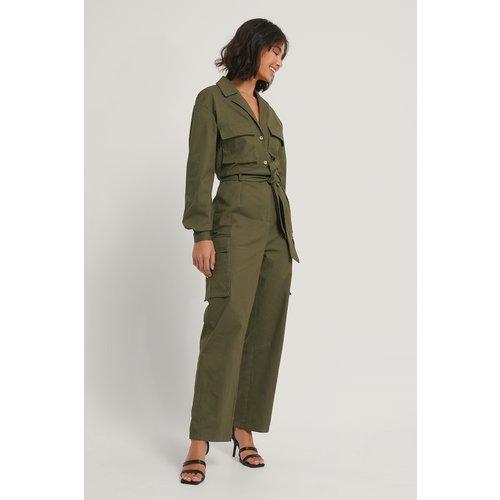 Combinaison Pantalon Utilitaire - Green - Hoss x NA-KD - Modalova