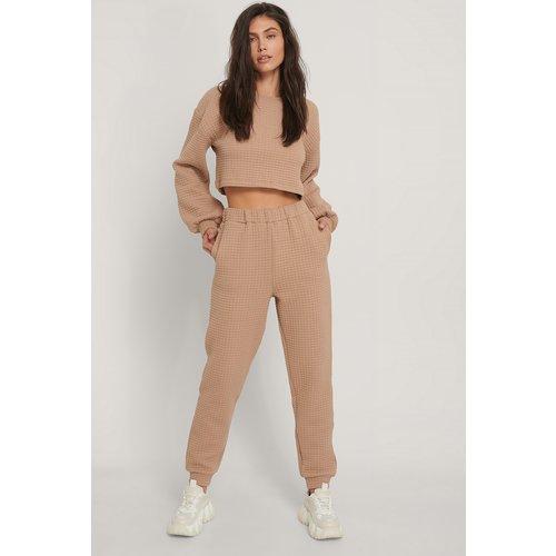 Pantalon De Survêtement Taille Haute - Beige - Jasmin Azizam x NA-KD - Modalova