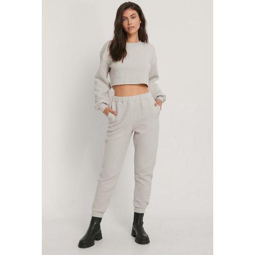 Pantalon De Survêtement Taille Haute - Grey - Jasmin Azizam x NA-KD - Modalova