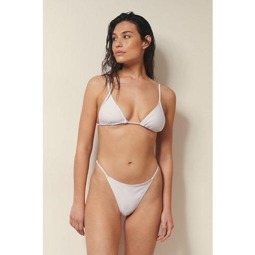 Culotte De Bikini Recyclée Avec Bretelles Latérales Réglables - White - Josefine HJ x NA-KD - Modalova