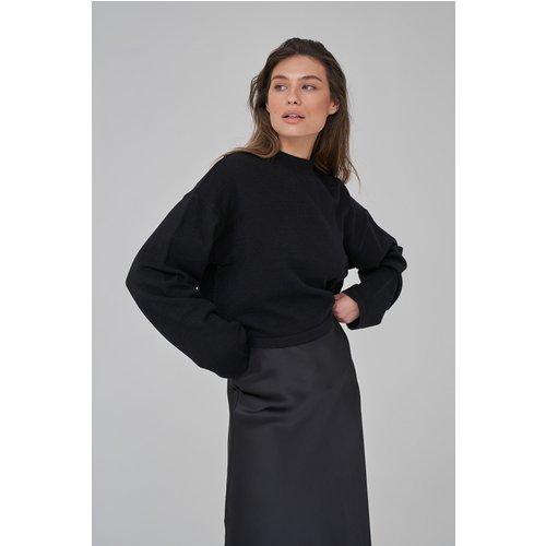 Pull En Tricot À Épaules Tombantes - Black - Josefine HJ x NA-KD - Modalova