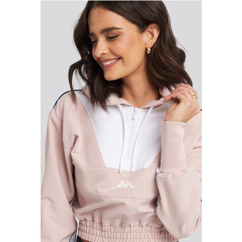 Byros Crop Hood Sweater - Pink,White - Kappa - Modalova