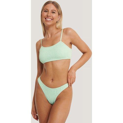Bas De Bikini Échancré Smocké - Turquoise - Kim Feenstra x NA-KD - Modalova