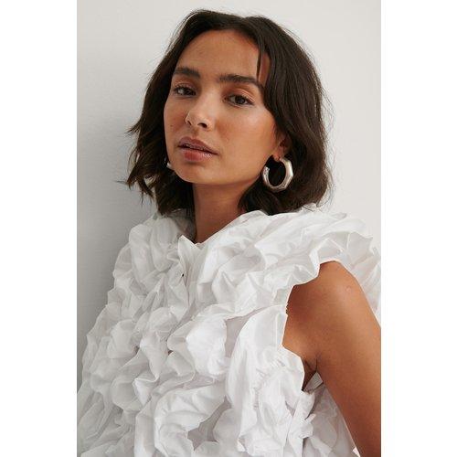 Boucles D'Oreilles En Boucle - Silver - Dressing Up At Home x NA-KD - Modalova