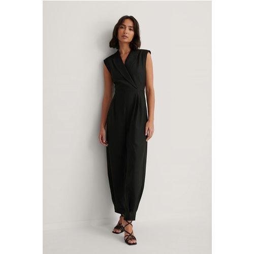Combinaison Pantalon À Épaules Marquées - Black - Dressing Up At Home x NA-KD - Modalova