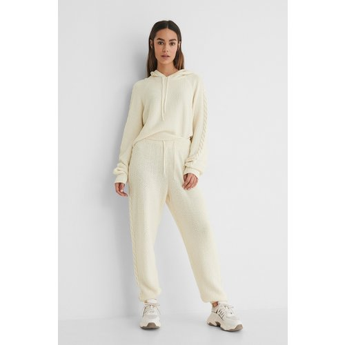 Recyclés Pantalon De Survêtement Taille Haute - Offwhite - Lisa-Marie Schiffner x NA-KD - Modalova