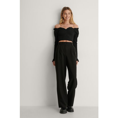 Pantalon - Black - Lisa-Marie Schiffner x NA-KD - Modalova