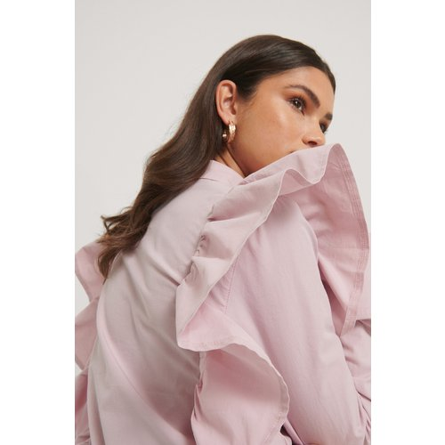 Chemise À Épaules Volantées - Pink - Manon Tilstra x NA-KD - Modalova