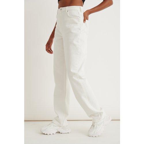 Tall Pantalon En Denim Coupe Ample - White - Marije Zuurveld x NA-KD - Modalova