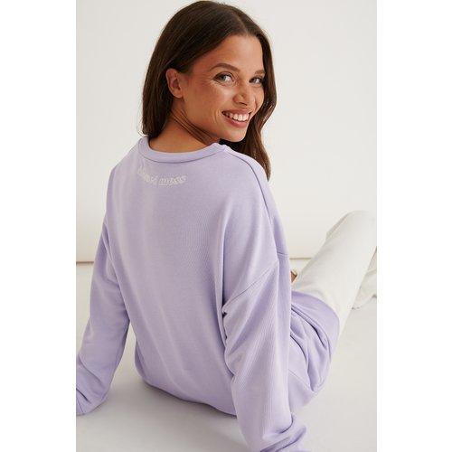V-neck Sweater - Purple - Marije Zuurveld x NA-KD - Modalova