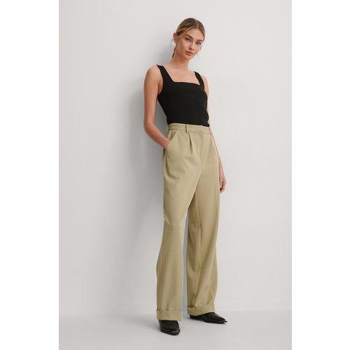 Pantalon De Costume - Green - Gøhler x NA-KD - Modalova