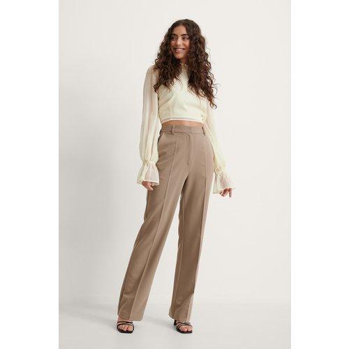 Pantalon De Costume Droit - Brown - Melissa Bentsen x NA-KD - Modalova