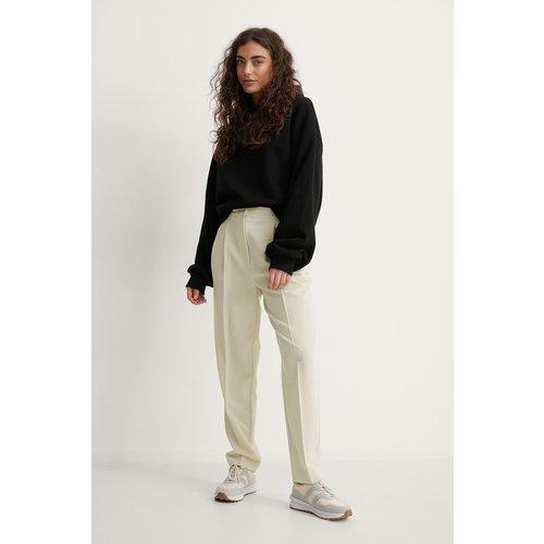 Pantalon De Costume Fuselé - Beige - Melissa Bentsen x NA-KD - Modalova