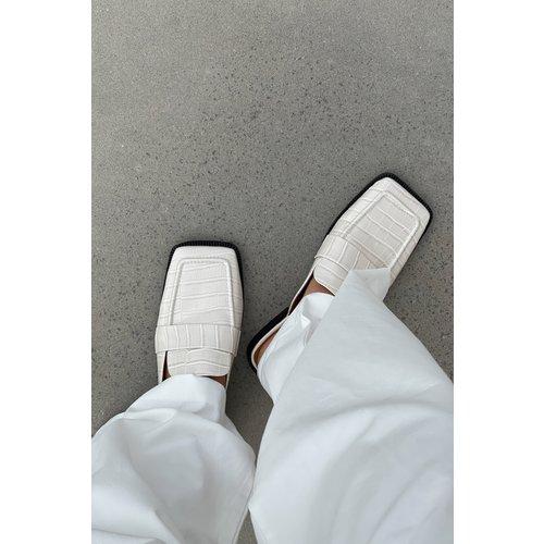 Mocassins À Bouts Carrés - Offwhite - NA-KD Shoes - Modalova