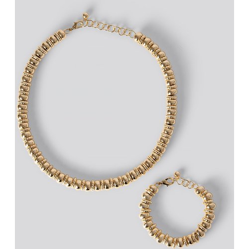Pack Multi Gold Pearl Necklace/Bracelet - Gold - NA-KD Accessories - Modalova