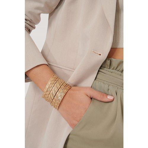 Bracelet À Anneaux Fins Superposés - Gold - NA-KD Accessories - Modalova