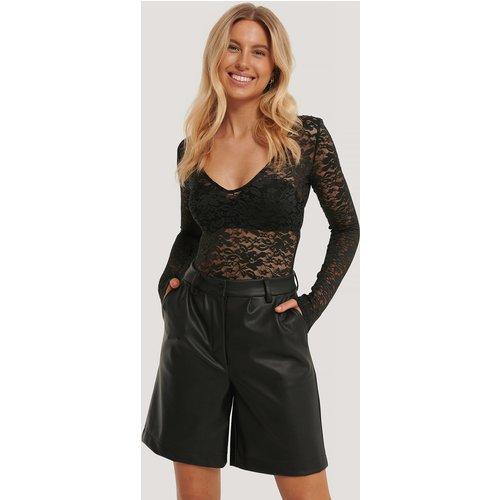 Long Sleeve Lace Body - Black - Adorable Caro x NA-KD - Modalova