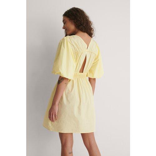 Robe Mini À Dos Ouvert - Yellow - NA-KD by YOU - Modalova
