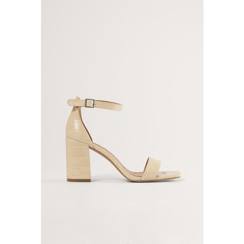 Sandale À Talon Carré - Beige - NA-KD Shoes - Modalova