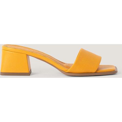 Basic Block Heeled Mules - Orange - NA-KD Shoes - Modalova