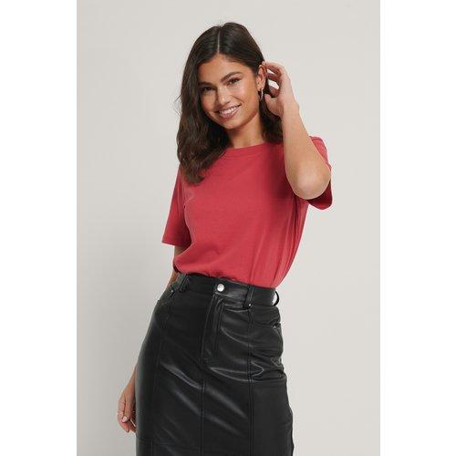 NA-KD Basic Tee-Shirt Basique - Red - NA-KD Basic - Modalova