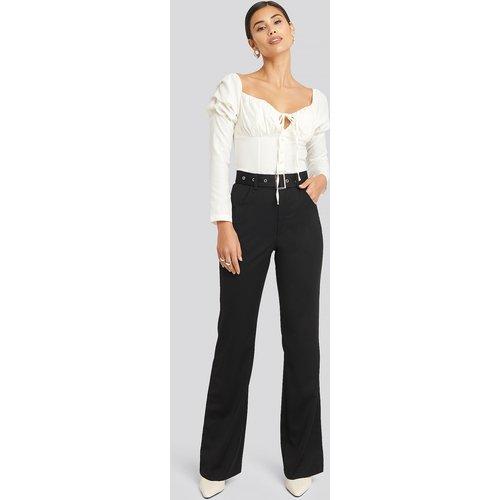 Belted Bootcut Pants - Black - AFJ x NA-KD - Modalova