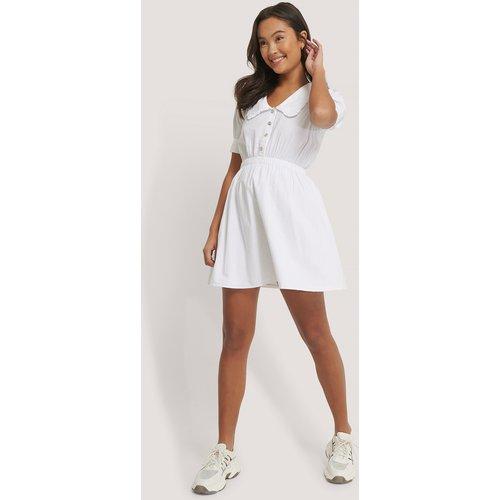 Robe Mini À Col Fantaisie - White - NA-KD Boho - Modalova