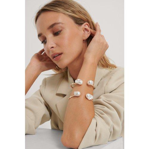Bracelet Manchette À Grosse Perle - Gold - NA-KD Accessories - Modalova