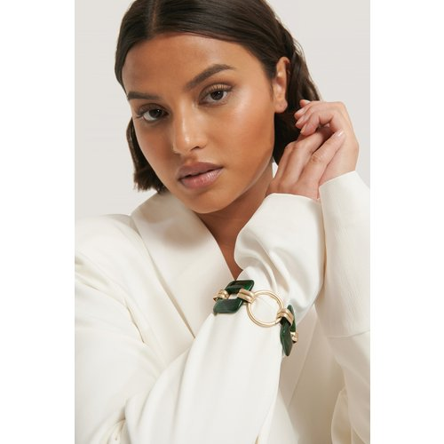 Gros Bracelet En Résine Carré - Green - NA-KD Accessories - Modalova