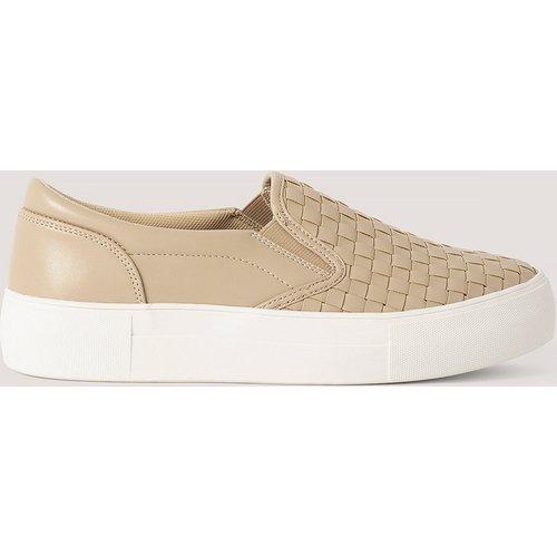 Baskets Tressées À Enfiler - Beige - NA-KD Shoes - Modalova